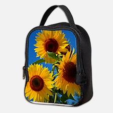 Cute Floral botanical Neoprene Lunch Bag