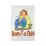 Born To Fish Rectangle Magnet