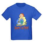 Born To Fish Kids Dark T-Shirt