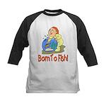 Born To Fish Kids Baseball Jersey