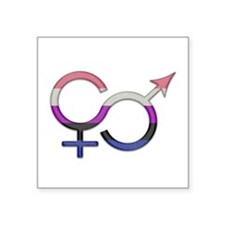 "Unique Gender Square Sticker 3"" x 3"""