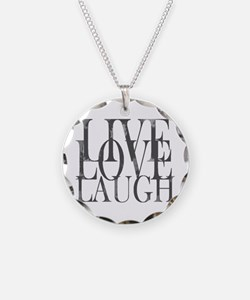 Live Love Laugh Necklace Circle Charm