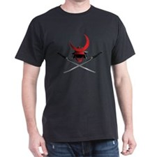 Samurai Helmet and Swords T-Shirt