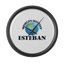 World's Hottest Esteban Large Wall Clock