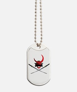 Samurai Helmet and Swords Dog Tags