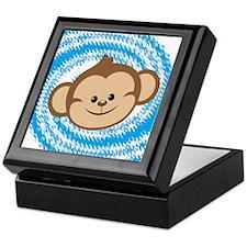 Monkey Face Blue Keepsake Box