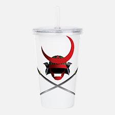Samurai Helmet and Swo Acrylic Double-wall Tumbler