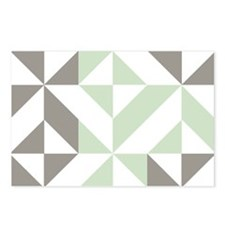 Sage Green and Silver Geo Postcards (Package of 8)