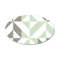 Sage Green and Silver Geomet Wall Decal