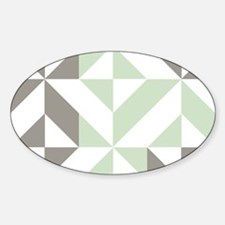 Sage Green and Silver Geometr Decal