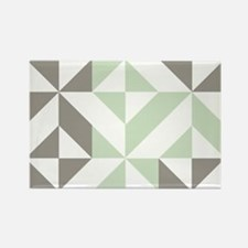 Sage Green and Silver G Rectangle Magnet (10 pack)