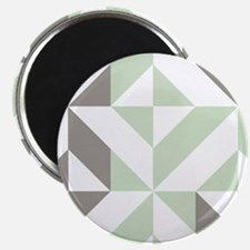 "Sage Green and Silver Geome 2.25"" Magnet (10 pack)"