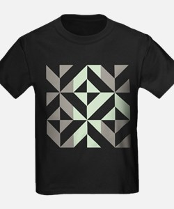 Sage Green and Silver Geometric T
