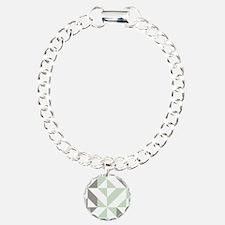 Sage Green and Silver Ge Bracelet
