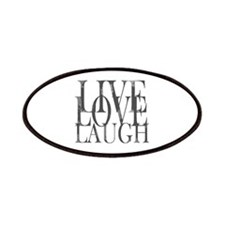 Live Love Laugh Inspirational Quote Patches