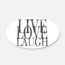 Live Love Laugh Inspirational Quote Oval Car Magne
