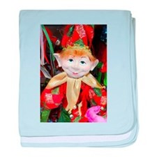 Christmas Elf Doll baby blanket