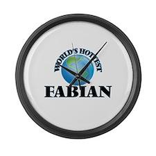 World's Hottest Fabian Large Wall Clock