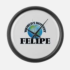 World's Hottest Felipe Large Wall Clock