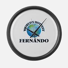 World's Hottest Fernando Large Wall Clock