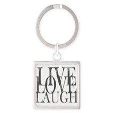 Live Love Laugh Inspirational Quote Keychains