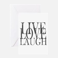 Live Love Laugh Inspirational Quote Greeting Cards