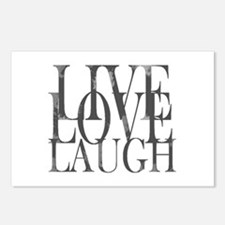 Live Love Laugh Inspirational Quote Postcards (Pac