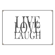 Live Love Laugh Inspirational Quote Banner