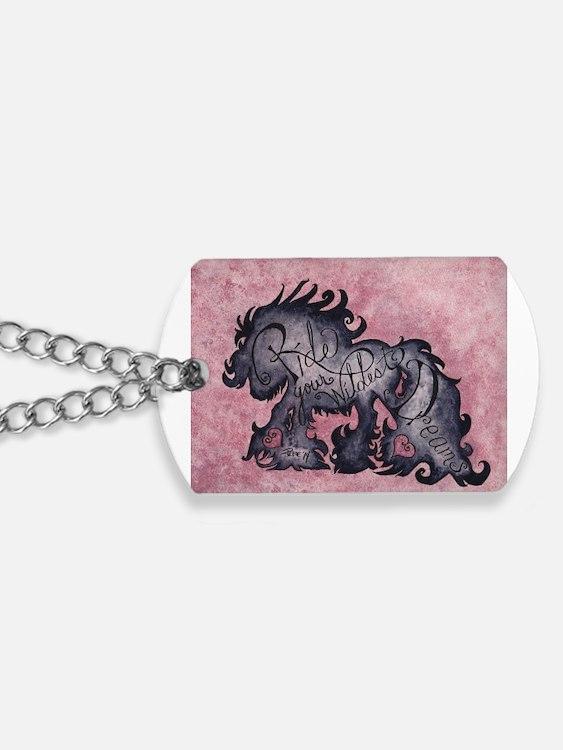 Cute Gypsy horse Dog Tags