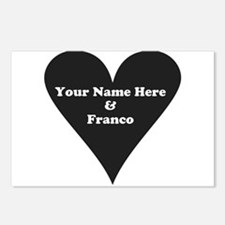 Your Name and Franco Postcards (Package of 8)