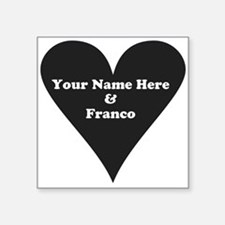 Your Name and Franco Sticker