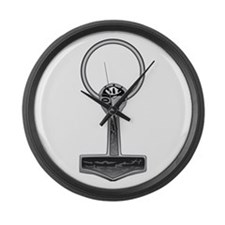 Thor's Hammer Large Wall Clock