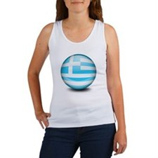 A ball with the flag of Greece Women's Tank Top