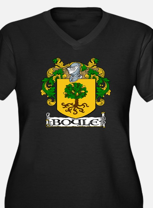 Boyle Coat of Arms Plus Size V-Neck Dark T-Shirt