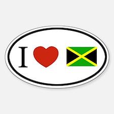 I love Jamaica sticker Oval Decal