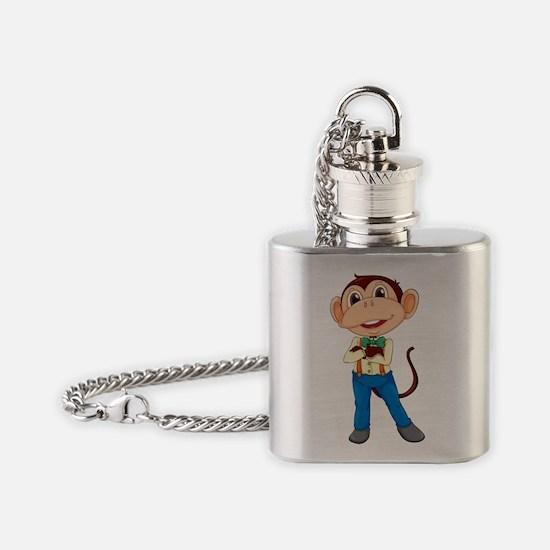 Monkey man Flask Necklace