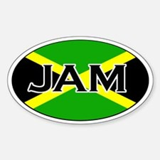 Jamaican Flag sticker Oval Decal