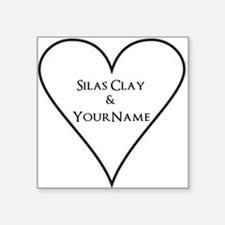 White Heart Silas Clay and Your Name Sticker