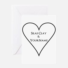 White Heart Silas Clay and Your Name Greeting Card