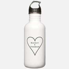 White Heart Silas Clay and Your Name Water Bottle