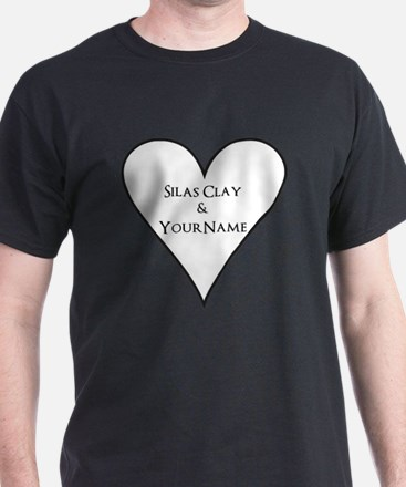 White Heart Silas Clay and Your Name T-Shirt