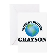 World's Hottest Grayson Greeting Cards