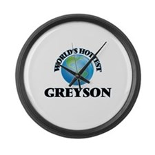 World's Hottest Greyson Large Wall Clock