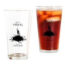 Viking Changing A Lightbulb Drinking Glass