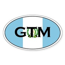 Guatemalan Oval Flag Decals Oval Decal