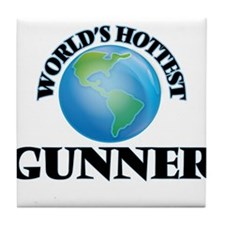 World's Hottest Gunner Tile Coaster