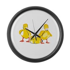 Trio of Ducklings Large Wall Clock