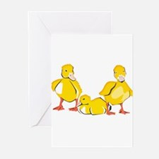 Trio of Ducklings Greeting Cards