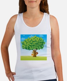animals under tree  Women's Tank Top