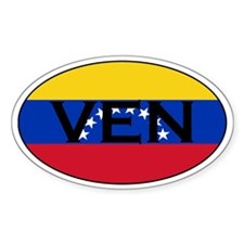 Venezuela Flag Oval Decal
